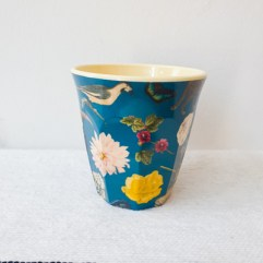 Bloemen en vogels print, medium melamine beker - Rice