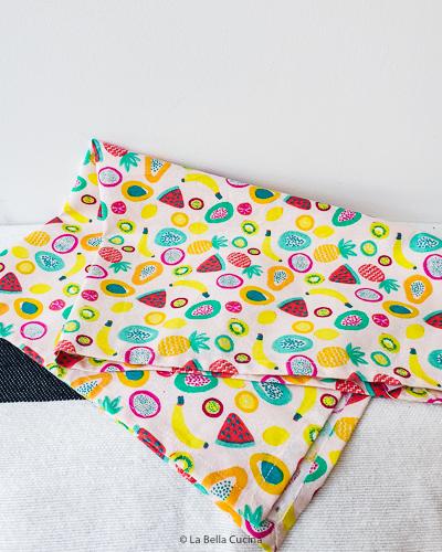 Fruit print theedoek - Rice