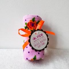 Roze handdoekje/servet - Rice