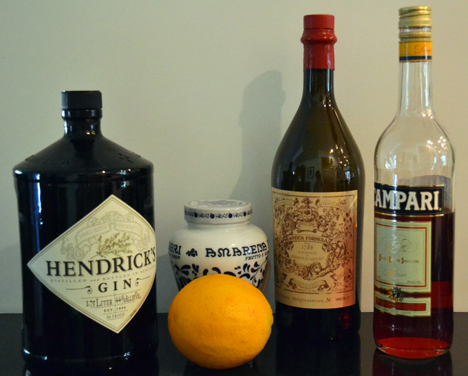 Negroni ingredients LaBellaSorella