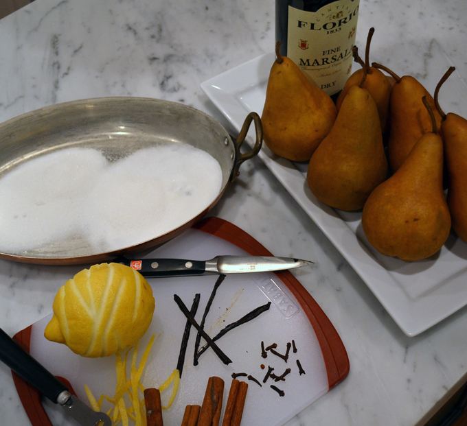 Trattoria Pears Ingredients | labellasorella.com