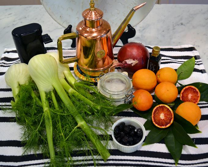Fennel & blood orange salad ingredients | labellasorella.com