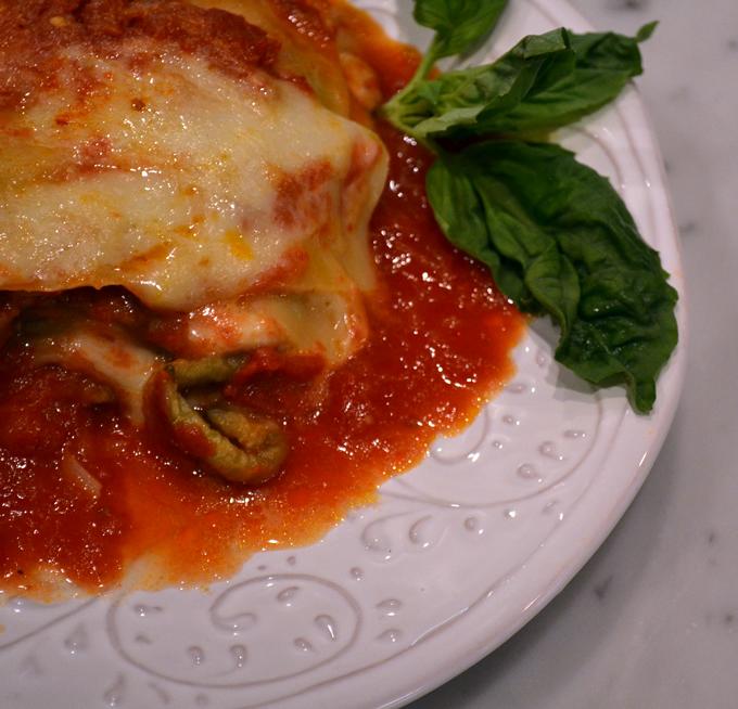 Eggplant lasagna with smoked mozzarella | labellasorella.com