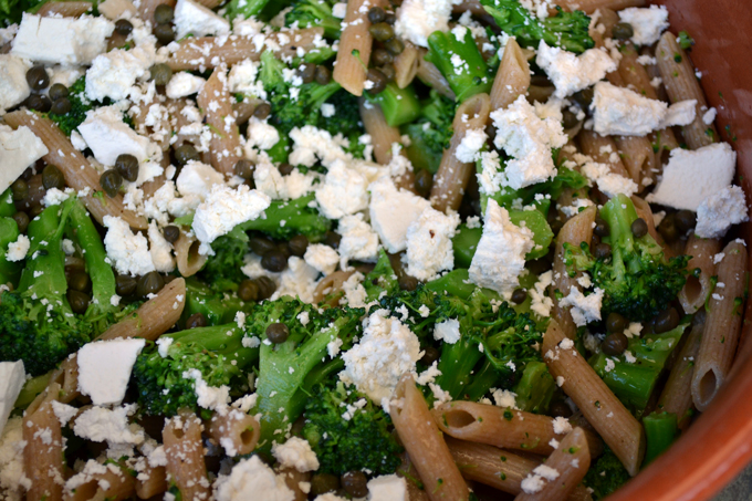Pasta with Broccoli and Ricotta Salata | labellasorella.com