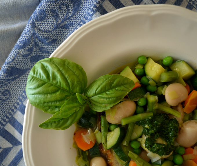 Vibrant Summer Vegetable Soup is perfect for a light dinner | labellasorella.com