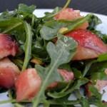 White Peach & Arugula Salad – Insalata di Pesca Bianca e Rucola