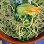 Bucatini with Zucchini, Lemon & Pecorino – Bucatini con Zucchine, Limone e Pecorino