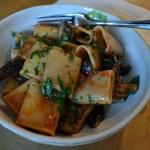 Paccheri with Tomato Sauce & Mushrooms – Paccheri alla Boscaiola