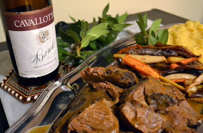 Beef Braised in Red Wine or Brasato al Barolo | labellasorella.com