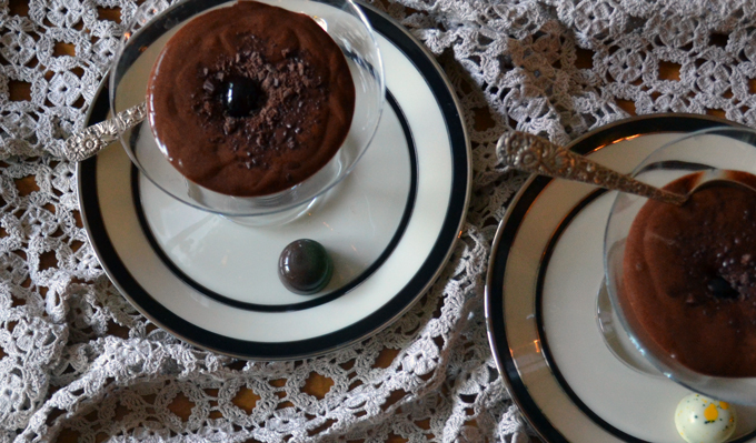 Bittersweet Chocolate Zabaglione for two | labellasorella.com