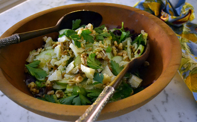 Winter salad at its best - Radicchio, Celery & Apple Salad with Parmigiano | labellasorella.com