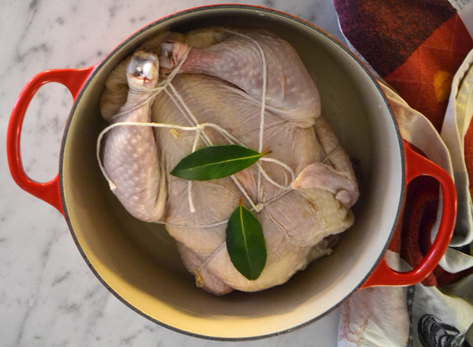 Organic chicken seasoned only with fresh bay leaves   labellasorella.com