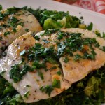 Seared Bass with Savoy Cabbage – Spigola Scottato con Il Cavolo Verza