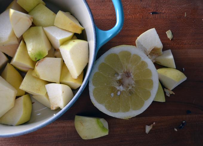 Starting the quince preserves | labellasorella.com