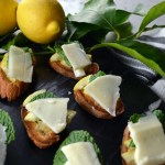 Crostini with Lemon & Sheep's Milk Cheese -Crostini con Limone e Pecorino