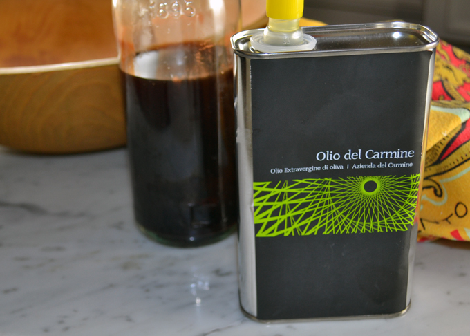 House made red wine vinegar and quality extra virgin olive oil | labellasorella.com