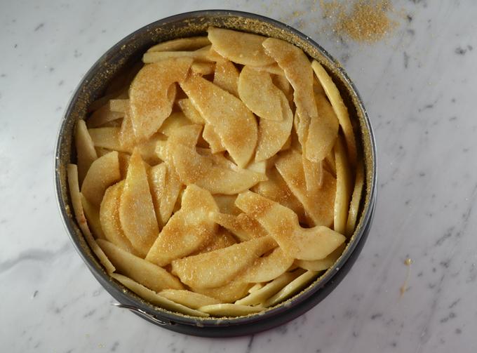Chiara's Pear Torte ready for the oven   labellasorella.com