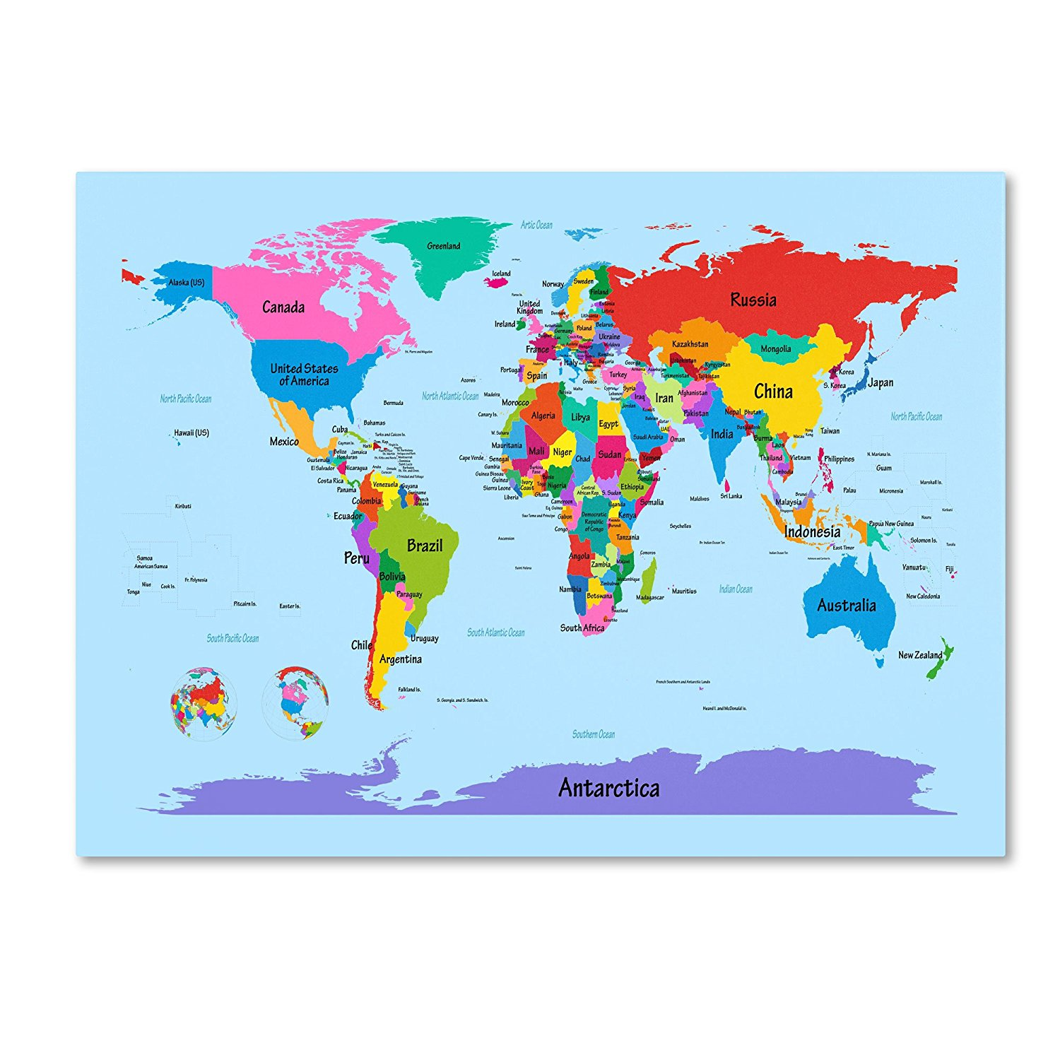Large Printable World Map Labeled