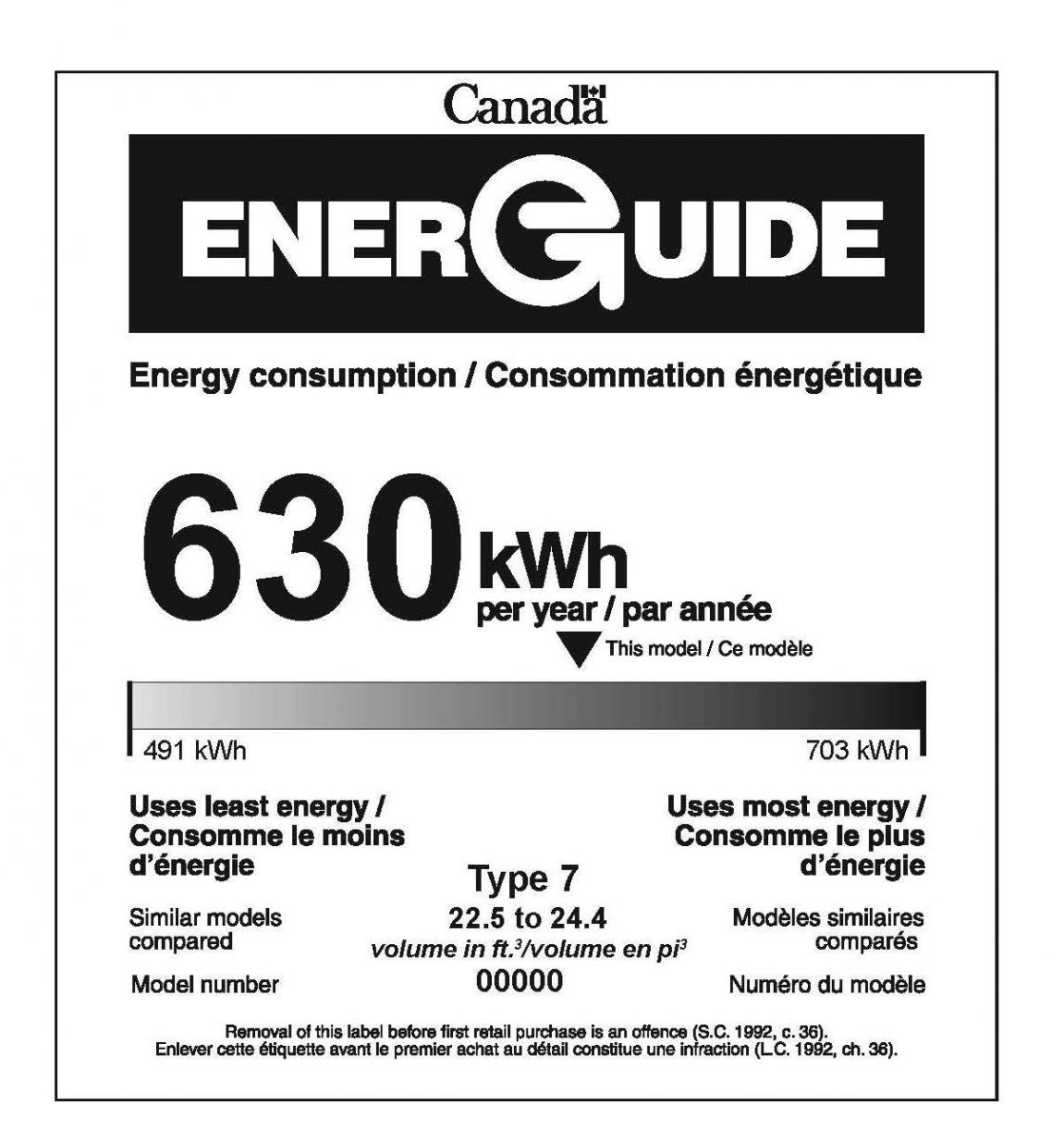 Electrical Rating Label