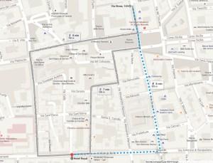 Plan d'accès Hôtel Royal