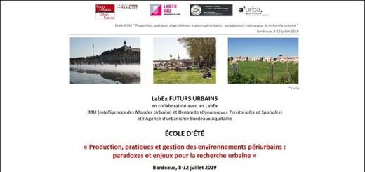 École d'Été du LabEx Futurs Urbains