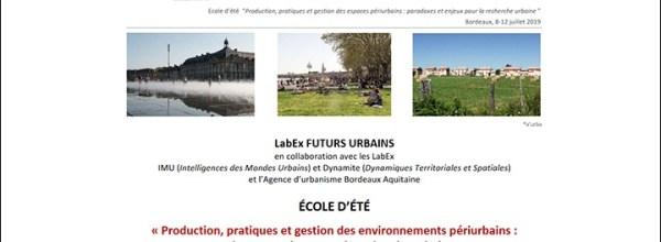 École d'Été du LabEx Futurs Urbains : les inscriptions sont ouvertes