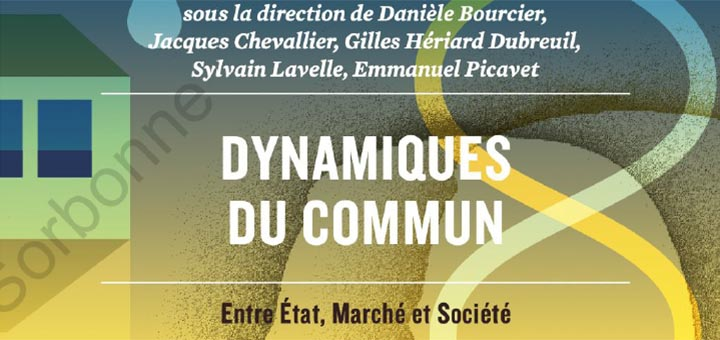 """Couverture de l'ouvrage """"Dynamiques du commun"""""""