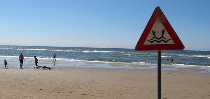Risque à la plage