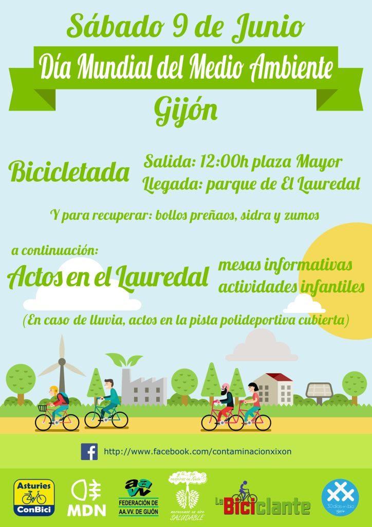 9 de junio 2018 - Día Mundial del Medio Ambiente - Bicicletada medioambiental en Gijón