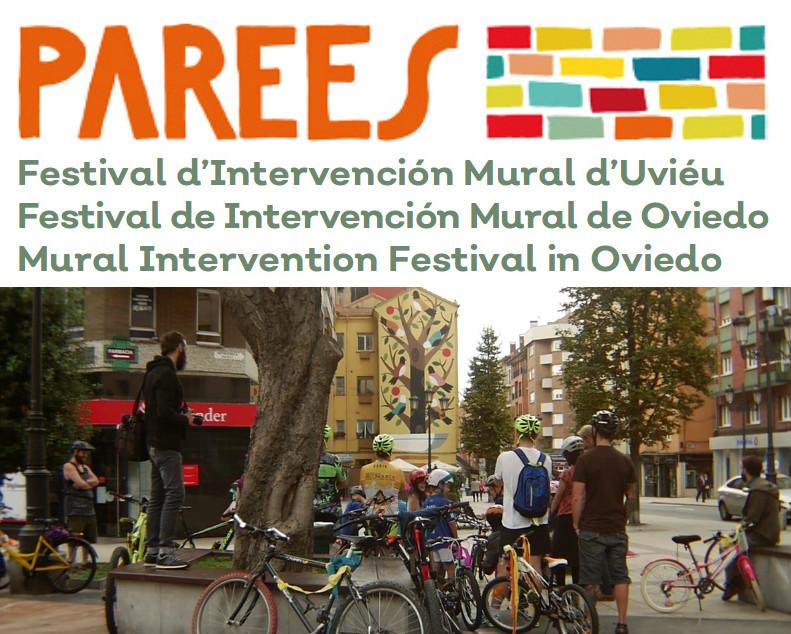 Parees Festival de Intervención Mural de Oviedo - Ruta en bici por los murales.