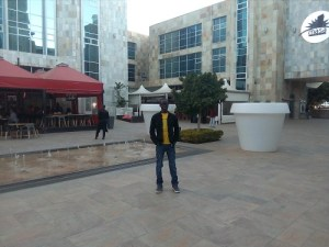 Labi Francis at Masa Square Hotel Gaborone, Botswana.