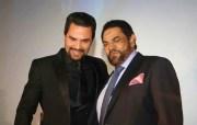 El actor Manny Pérez junto al fenecido Jack Veneno