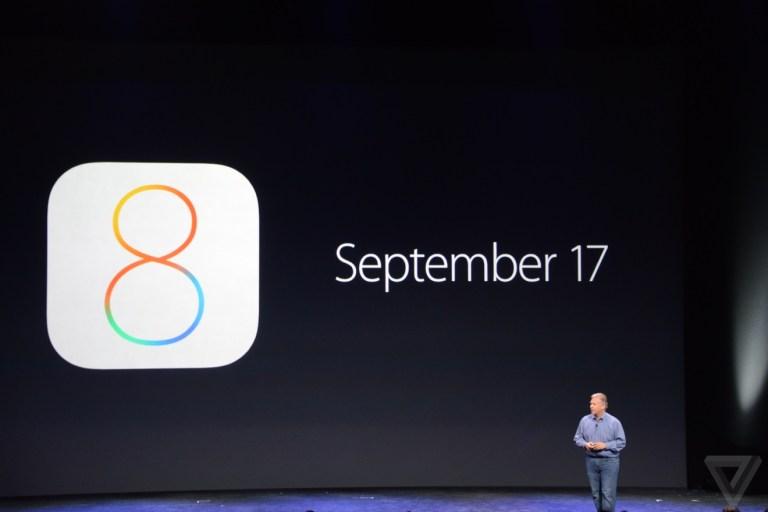 iOS 8 dal 17 Settembre