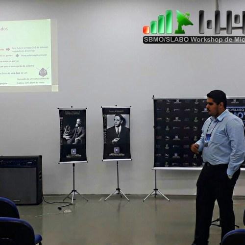 Apresentação de pesquisa e representando a participação da pró-reitoria de pesquisa e inovação do IFCE, o prof. Jorge Fredericson.