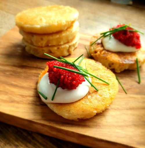 crumpets, lompvis, labneh