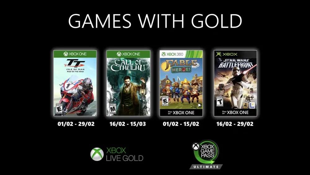 """Résultat de recherche d'images pour """"games-with-gold fevrier 2020"""""""""""