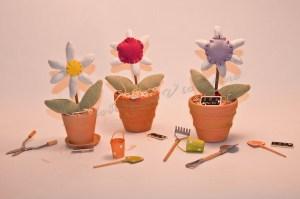 Composition florale en tissu