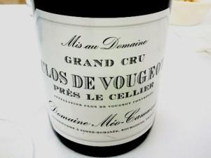 Clos de Vougeot Près le Cellier Grand Cru 2009
