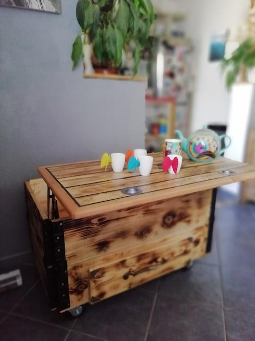 table basse relevable avec rangement