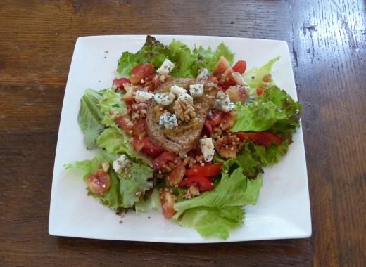 salade légère aux figues et au roquefort