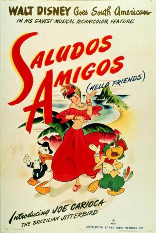 1943 Saludos Amigos Poster 536x800 Les affiches des 53 films Disney de 1937 à 2013 design cinema 2 art