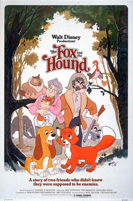 1981 The Fox and the Hound Poster 532x800 Les affiches des 53  films Disney de 1937 à 2013  design cinema 2 art