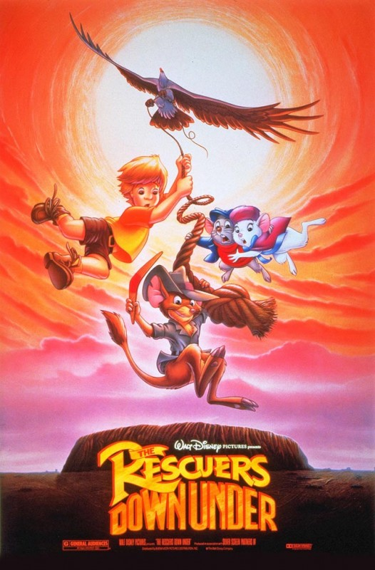 1990 The Rescuers Down Under Poster 526x800 Les affiches des 53  films Disney de 1937 à 2013  design cinema 2 art