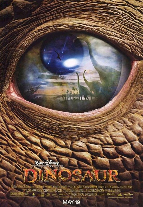 2000 Dinosaur Poster 552x800 Les affiches des 53 films Disney de 1937 à 2013 design cinema 2 art