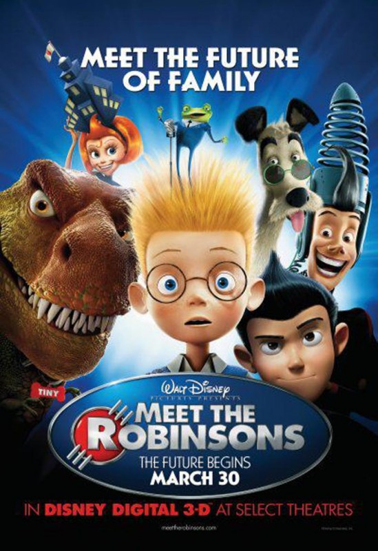 2007 Meet the Robinsons Poster 549x800 Les affiches des 53 films Disney de 1937 à 2013 design cinema 2 art