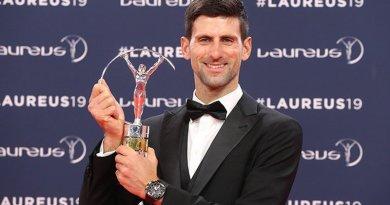 Eligen a Novak Djokovic como mejor deportista del año en Laureus 2019