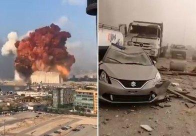 Gran explosión en el puerto de bairut durante el juicio por el asesinato del ex primer ministro rafik hariri