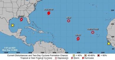 Congestión atmosférica: cinco fenómenos se desplazan en el Atlántico