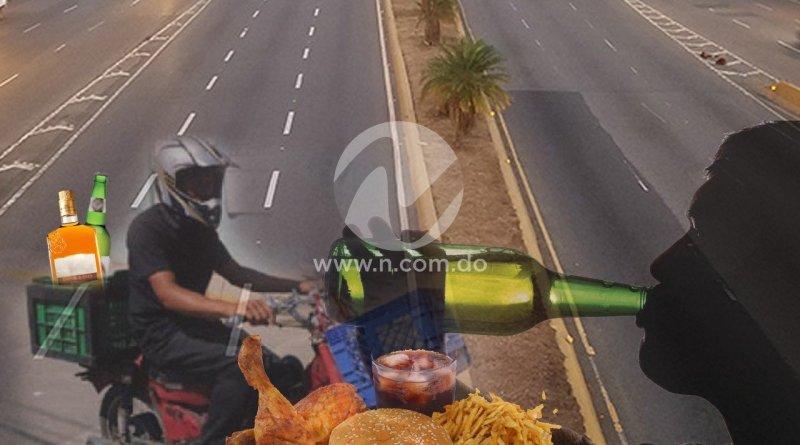 Bebidas alcohólicas y comida rápida: lo más solicitado a transport durante toque de queda