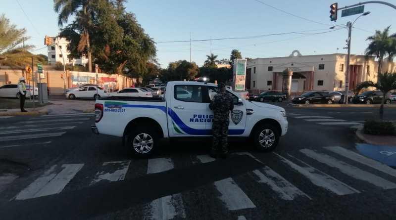 Tránsito vehicular está bloqueado en la México con Delgado, próximo al Palacio Nacional